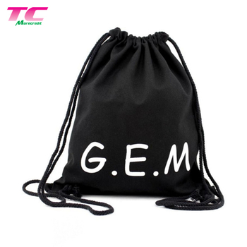 Drawstring Backpack Sport Bag for Men and Women School Drawstring Travel Backpack with Logo