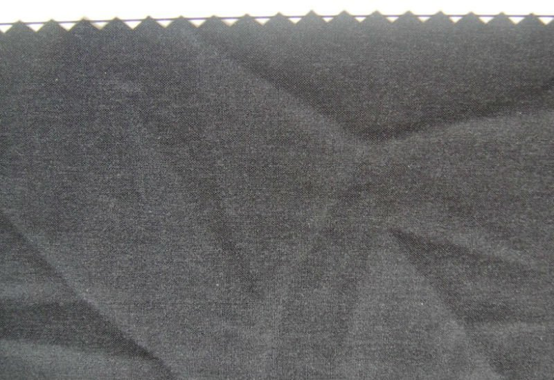 Clothing Plain Poly Spandex stretch dyed black woven plastic Fabric
