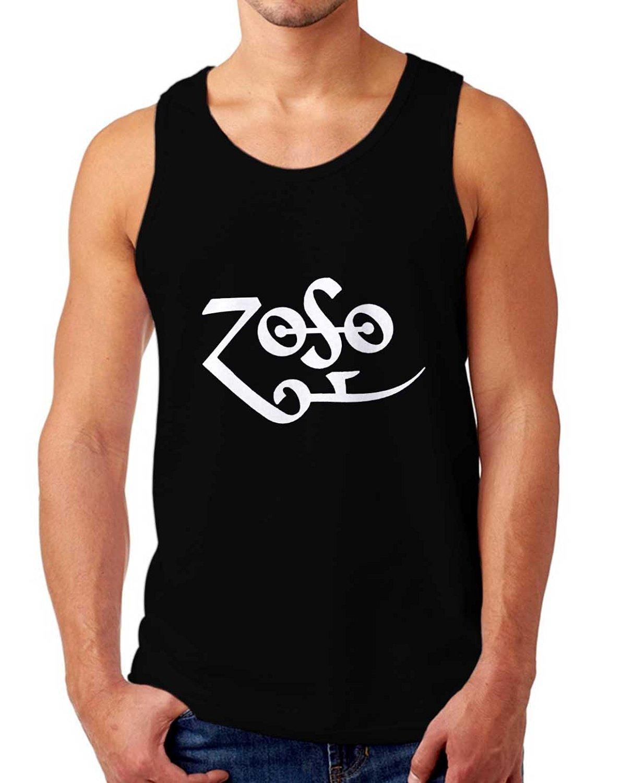 e3a2e29f0eb352 Get Quotations · Led Zeppelin Zoso Tank Top Men - Black SQ