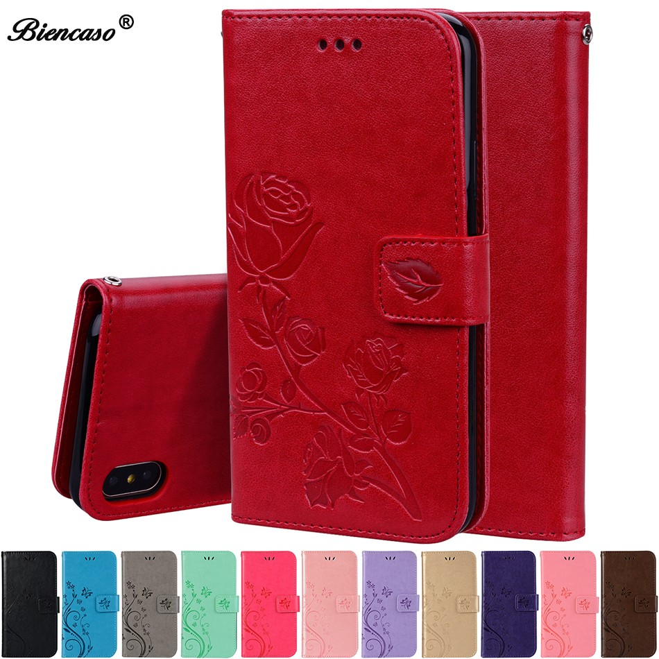 Luxe Leather Flip Case Voor iPhone 6 s 7 8 plus 6 S x XS Max XR Wallet Cover iphone 5 5 S SE Case Met Kaarthouder Telefoon Tas C95