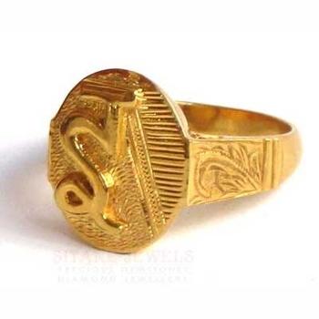 22 K Gold Ring Hand Engraved Hindi Alphabet Buy Gold Ring Gold