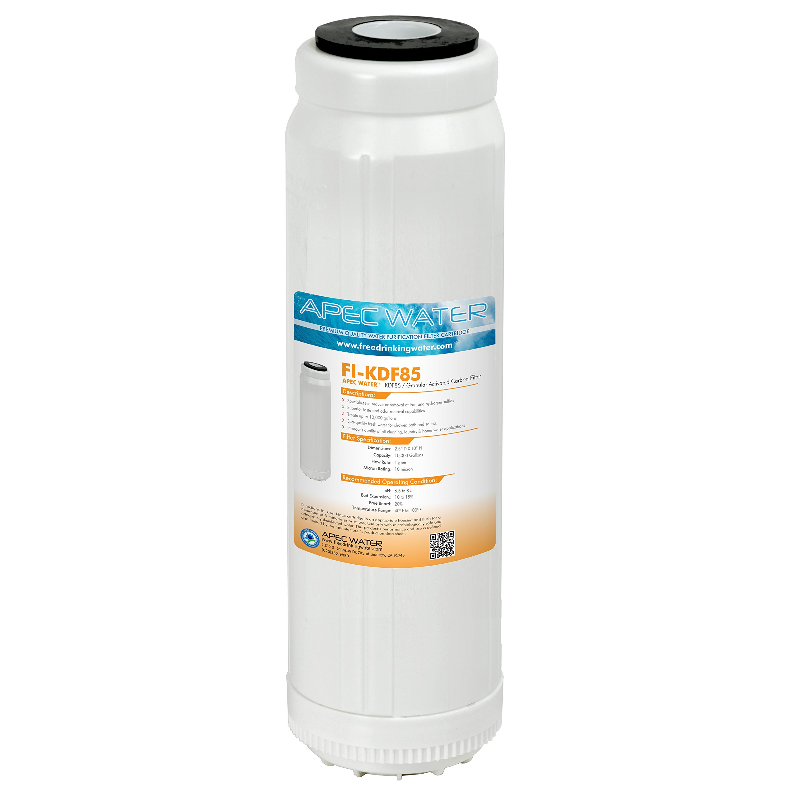 KDF-85//GAC Carbon Iron /& Hydrogen Sulfide Removal Filter Intelifil 1 Lbs 9.75x2.75 IF-SM-KDF85010