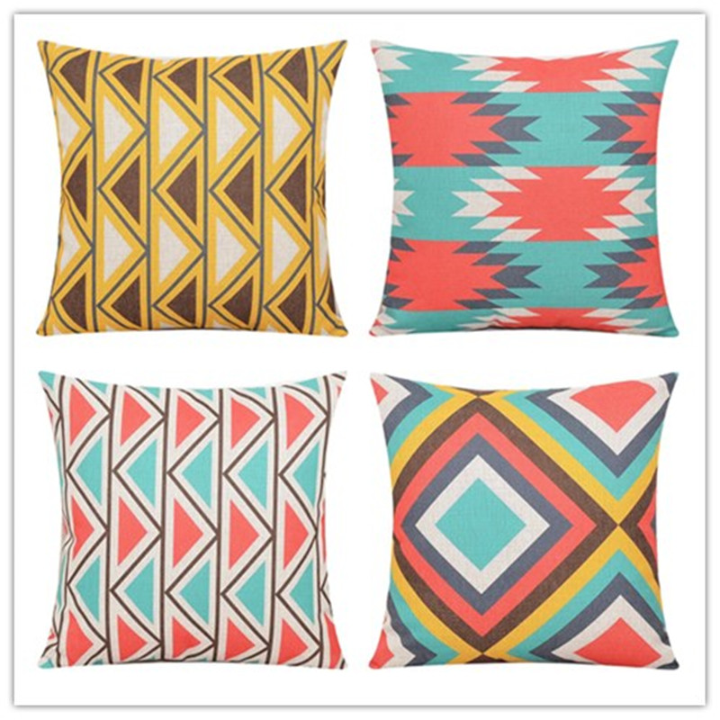 Fresh Bohemian Style Home Decor Cushion Pillows Fundas Magic Geometric Decorative Throw Pillows Almofadas Cojines