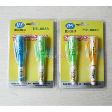promotional invisible ink pen with uv light/ invisible in pen
