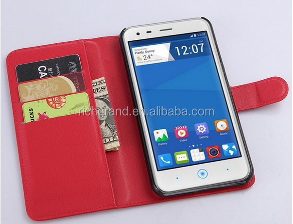 Luxury Wallet PU Leather Flip Case Cover For ZTE BLADE S6 LUX Q7