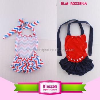 b9b8160fd73 Halter Baby Girls Clothes dress backless Romper Onesie sunsuit chevron  jumpsuit One-pieces Ruffle bubble