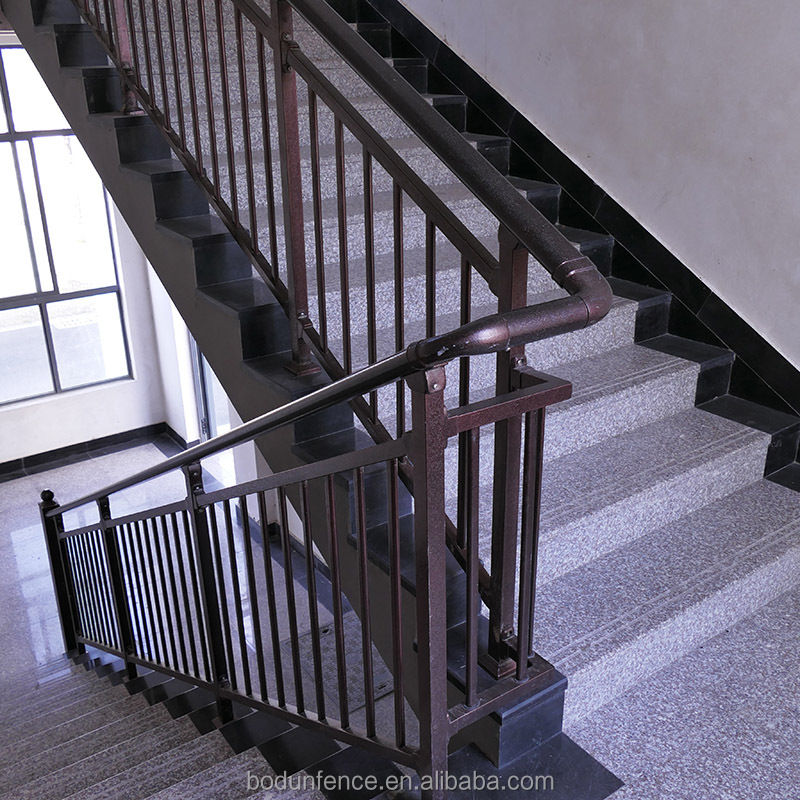 Wrought iron stair handrail bracket material