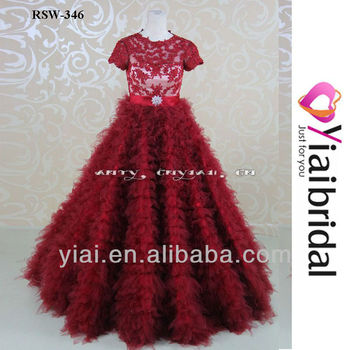RSW346 Red Ball Gown Wedding Dress