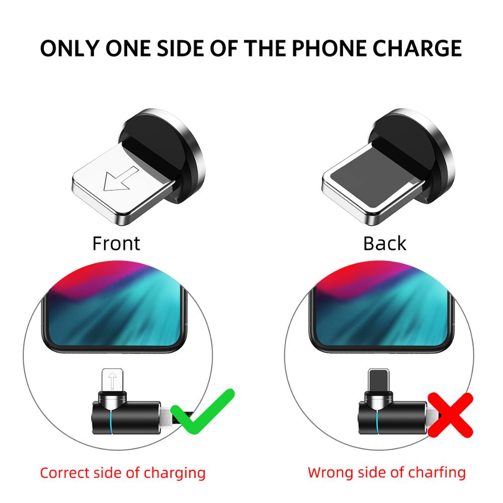 Free Shipping USLION 1M(3.3ft) Magnetic USB Cable 3A Fast Charging Cable for Android Data Cable for Type-C