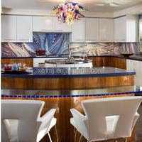 Modern latest design dining room decor hand blown glass chandelier