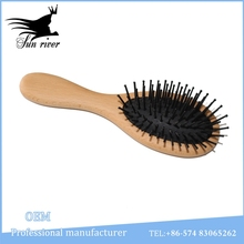 Safety natural wooden baby hair brush and comb