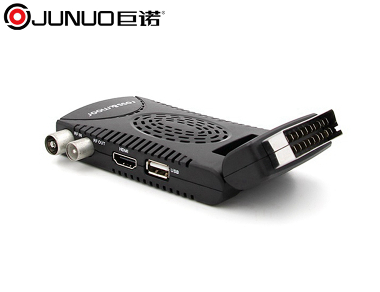 JUNUO 2017 strong decoder fta mini car hd dvb-t2 set top tv box firmware upgrade dvb t2 tv receiver applied in czech republic
