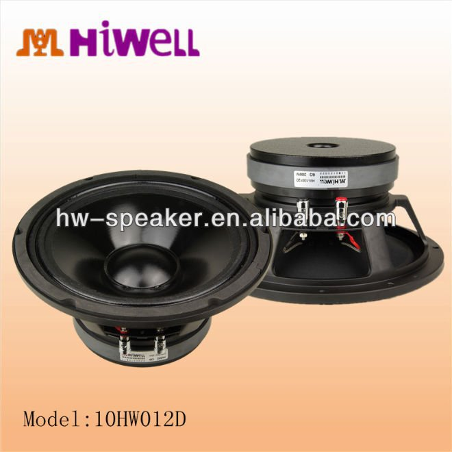 10inch hiwell auido factory aluminum woofer unit speakers