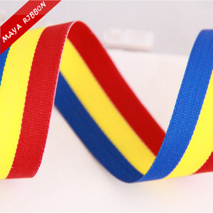 Romania Columbian Moldova Venezuela country flag ribbon with red yellow blue three color