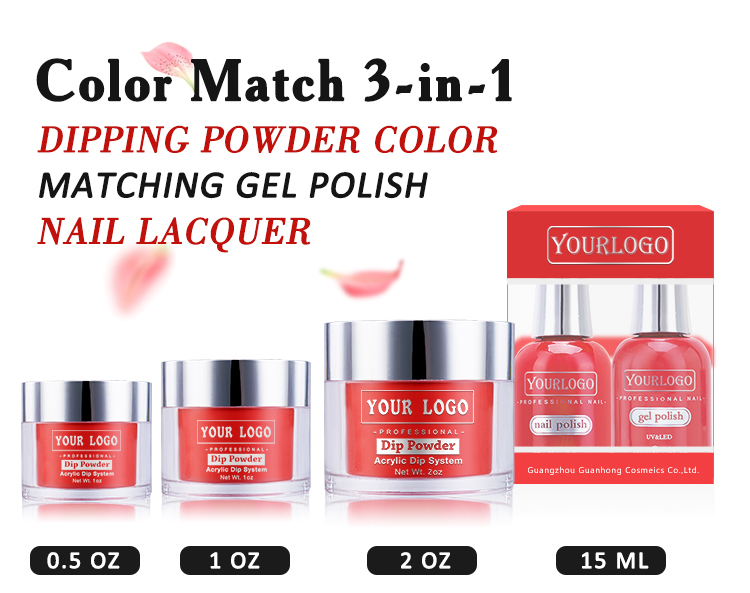 3 In 1 Perfect Color Match Dip Powder And Gel Polish Vs Nail Lacquer ...