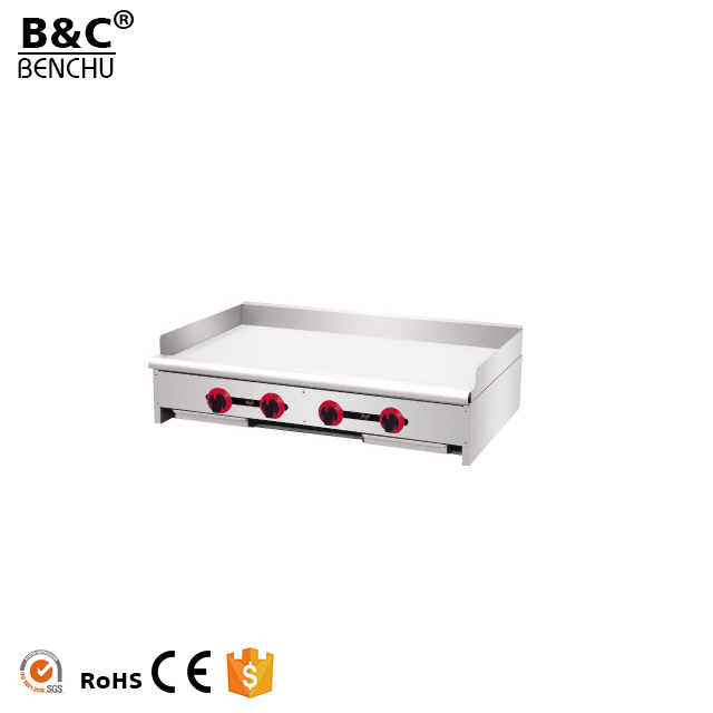 Kitchen Equipment Counter Top BBQ Gas Griddle Cooker / Stainless Steel Flat Plate Gas Griddle for Sale
