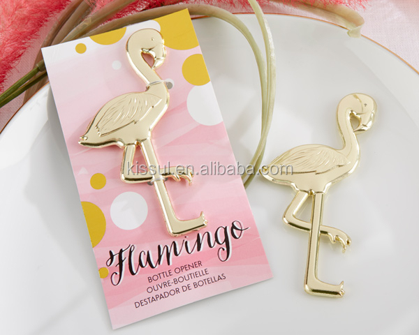"2015 New Arrival Wedding favors and gifts ""Fancy and Feathered"" Flamingo Bottle Opener Party Favors"