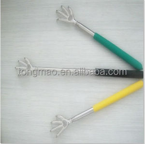 Eagle Claw Handheld Telescopic Back Scratcher With Silver Head & Colorful Non-slip Cushion Grip