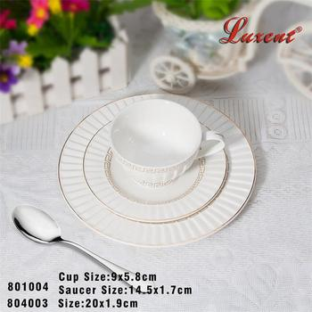 China Factory Coffee Shop Airline Bulk Tea Cup Saucer Set For ...