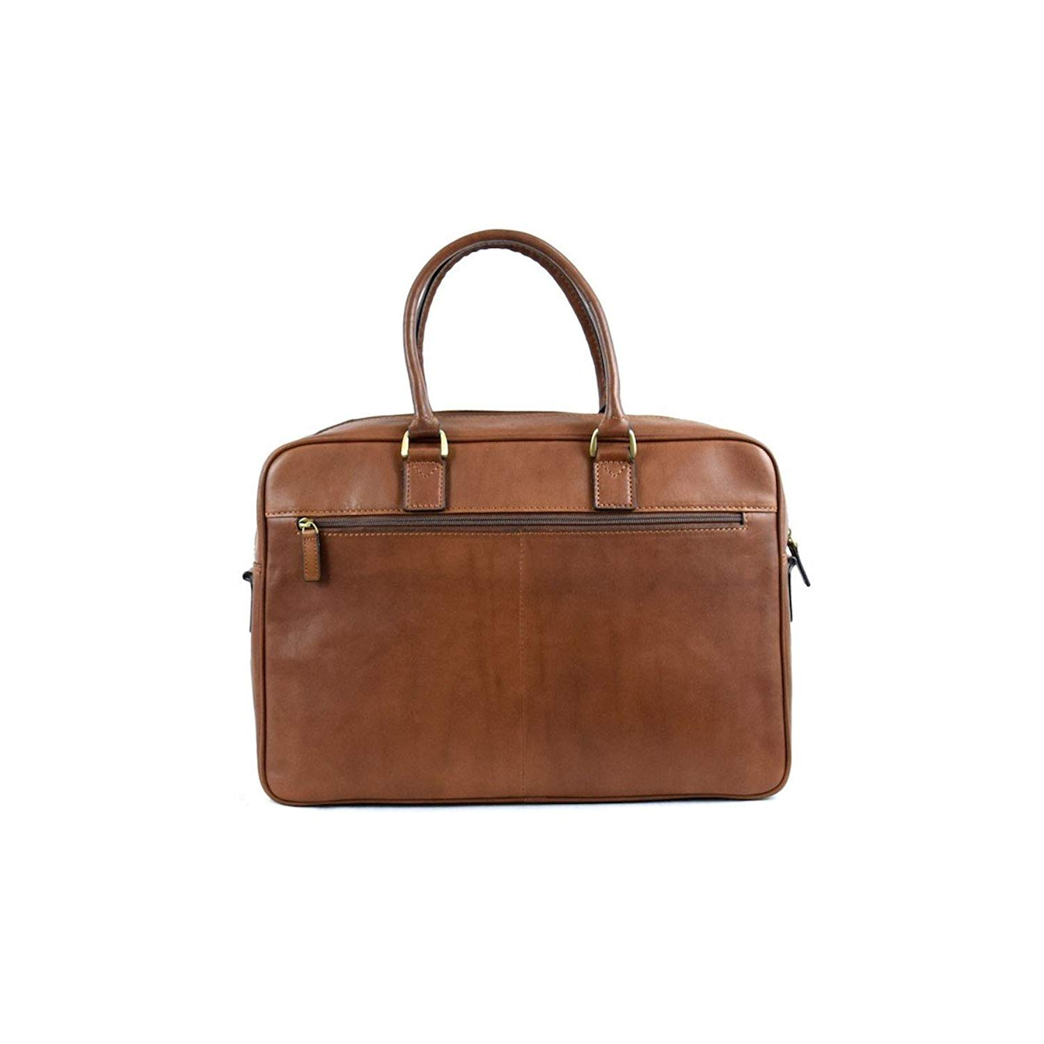 Dream Leather Bags Made in Italy Genuine Leather Vegetable Tanned Leather Business Bag Color Brown