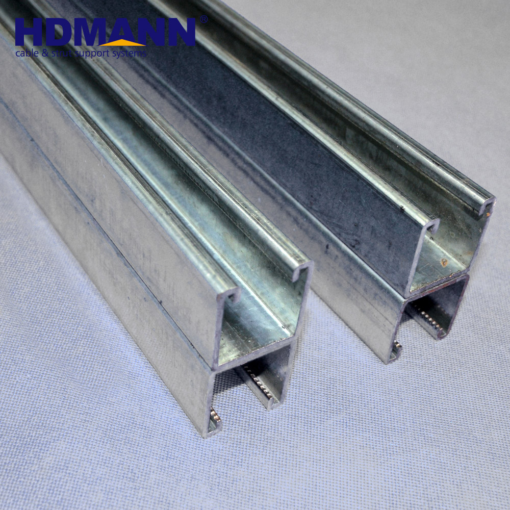 Hdmann High Quality Steel Back To Back Double Unistrut Galvanized C Channel  - Buy Galvanized C Channel,Unistrurt C Channel,Double Unistrut Product on
