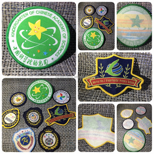 Hot Sale Uniform Custom Iron on Backing Woven Patch / Patches weaving label garment embroidery badges