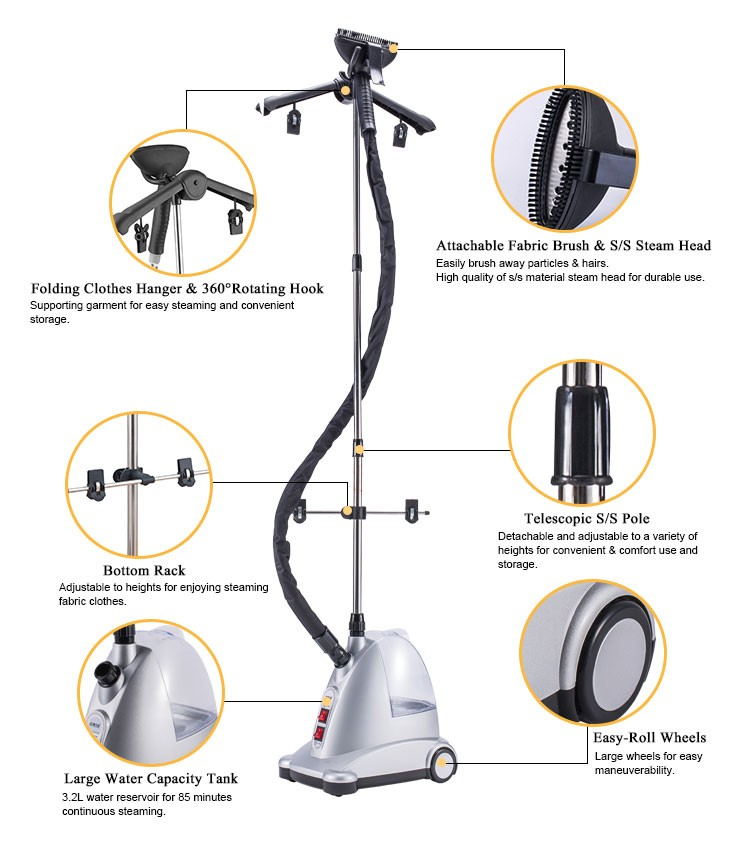 3 2l 1750w Clothes Steamer Commercial Laundry Press