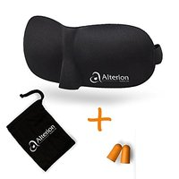 Travel 3d Eye Mask Sleep with Earplugs and Pouch Bag