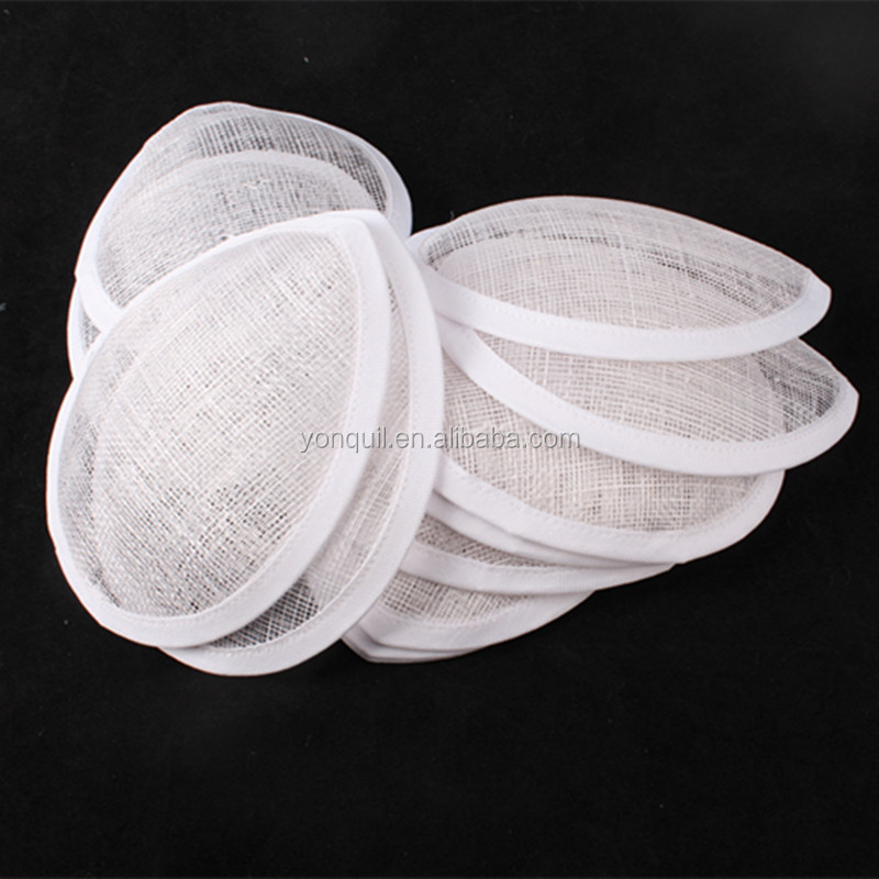 "Free shipping 5.2""(13cm) white sinamay fascinator base/ sinamay <strong>hair</strong> <strong>accessories</strong>,DIY <strong>hair</strong> <strong>accessories</strong> 12pieces/lot MYQH024"