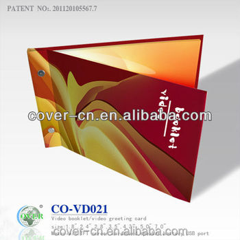 LCD video greeting card/customized video brochure/OEM&ODM video booklet