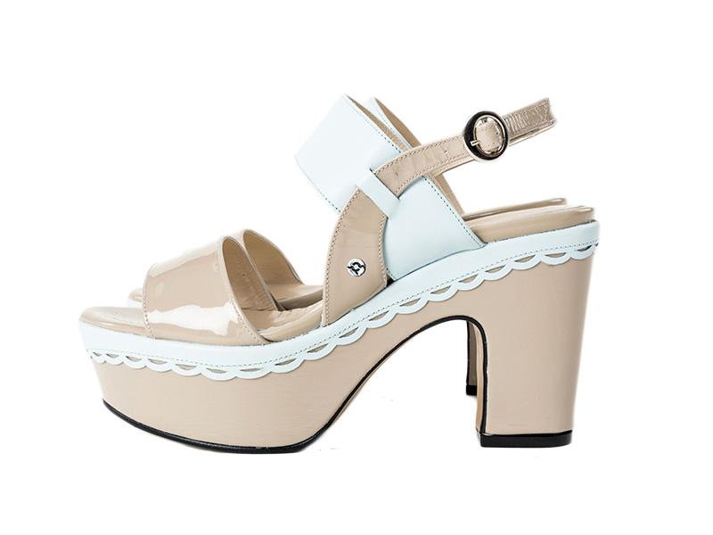 Vegas Sandals FUQSIA Leather LEATHER GENUINE Gray qqnpxrU