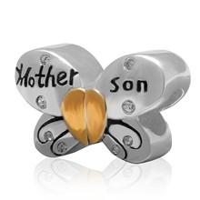 Sambaah болтается мать дочь и сын Сердце Подвески 925 стерлингового серебра мать ребенок Шарм «любовь» Pandora семья браслет(Китай)