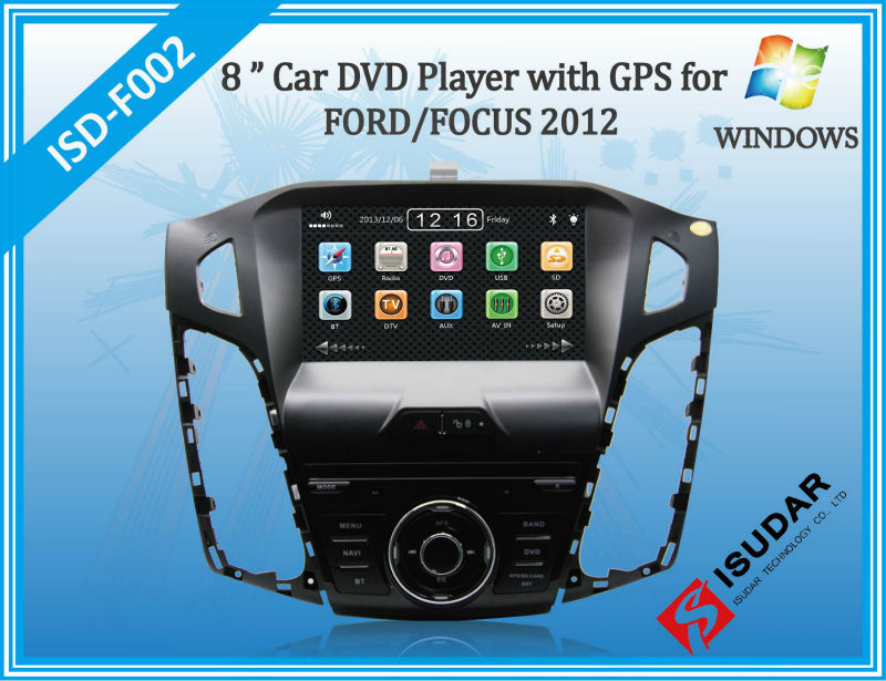 HD 8 Inch Car DVD For FORD FOCUS 2012 With 3G Host PIP GPS FM IPOD Bluetooth TV