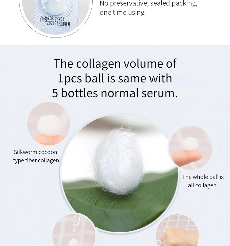 Collagen source solution ball the best freeze-dried collagen organic skin care