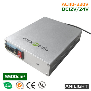 High quality el wire driver inverter 5500cm2, DC 12V, DC 24V, AC85-245V 50/60HZ