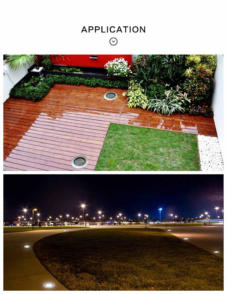 Recessed Colorful Solar Interaction Led Underground Lighting