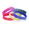 Bulk Cheap Custom Personalized Cool Silicone Rubber Bracelets