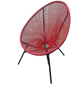 Morden knock down outdoor garden outside patio furniture comfortable rope rattan all weather steel iron egg acapulco chair