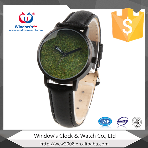couple vintage quartz watch green grass dial