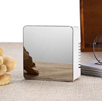 cube mini LED mirror clock mirror led with clock