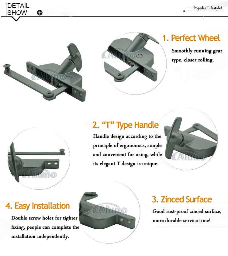 Shutter Aluminum Window Opener With Chain/Window Blinds Opener