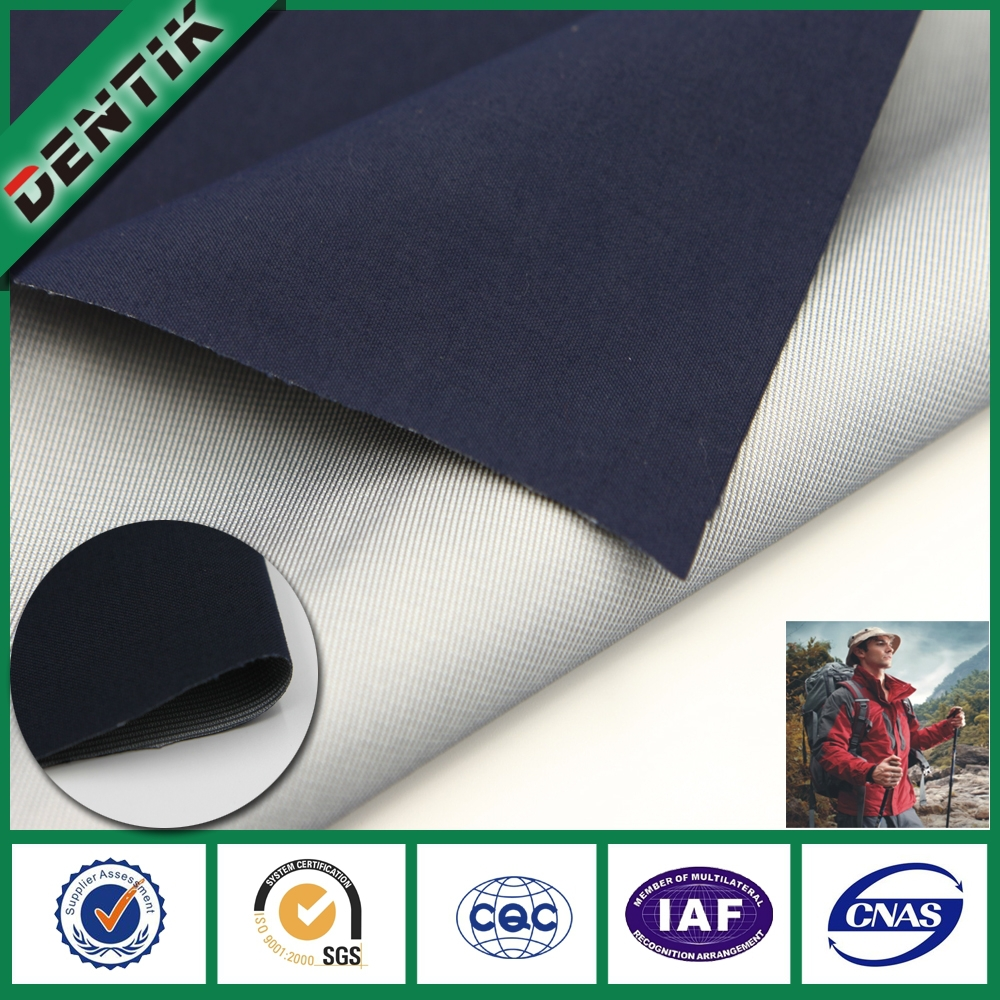 New Arrival 100% nylon peach skin waterproof breathable ptfe laminated fabric, for protective clothing