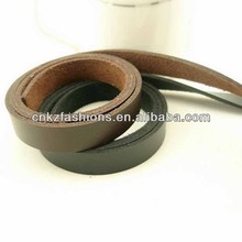 good quality 1.3cm wide black and brown cheap faux genuine leather strap
