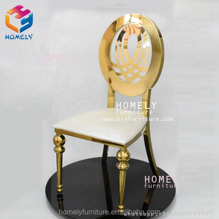hotel hall party wedding new design modern feast black white rose gold metal wholesale leather chair stainless steel