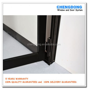 Black Anodized Aluminum Frame Automatic Frosted Tempered Gl Panels Garage Door Prices Aluminumgl