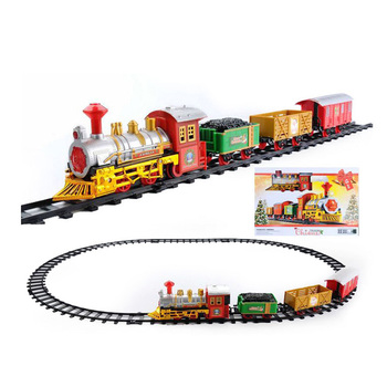 Battery Operated Lighting Music Plastic Toy Train Tracks Set