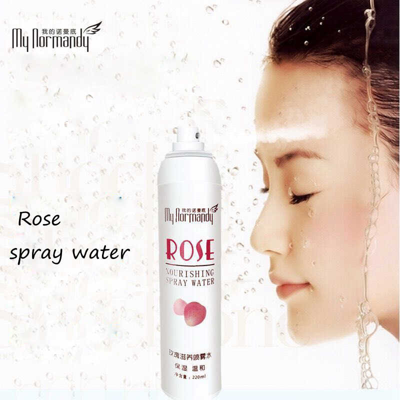 Private Label Natural Rose Water For Skin Moisturizing Smoothing Lighting Aerosol Water Spray