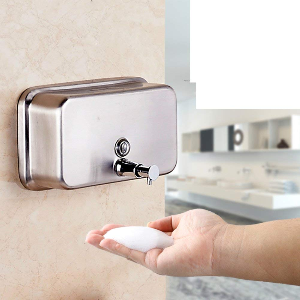 Stainless Steel Soap Dispenser Wall-Mounted Soap Dispenser Manual Soap Dispenser Hotel Dispenser