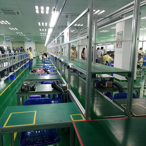 2018 Electronic Mobile Phone LED Light PVC Belt Conveyor Systems Production Assembly Line