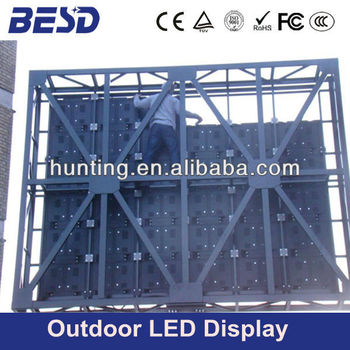 Fixed Installation Outdoor Led Display Screen Steel